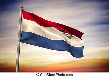 Composite image of netherlands national flag - Netherlands...