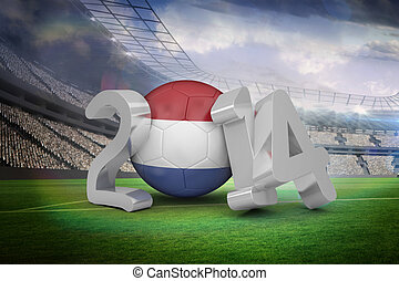 Composite image of netherlands world cup 2014