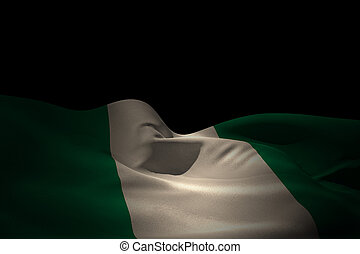 Composite image of nigeria flag waving
