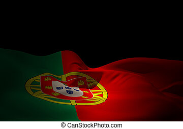 Composite image of portugal flag waving