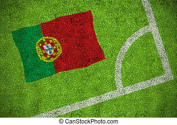 Composite image of portugal national flag