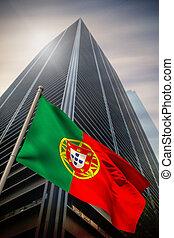 Composite image of portugal national flag