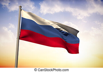 Composite image of russia national flag
