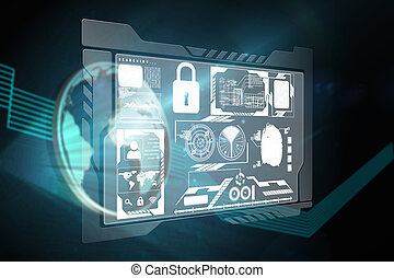 Composite image of security interface