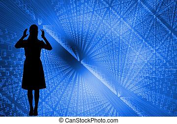Composite image of shiny futuristic background
