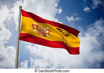 Composite image of spain national flag - Spain national flag...