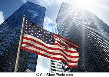 Composite image of usa national flag
