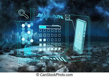 composite, interface, image, sécurité