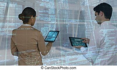 composite, numérique, gens, utilisation, pc, business, tablette