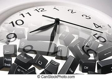 Clock and Computer Keys