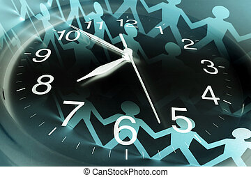 Composite of Clock and Paper Chain
