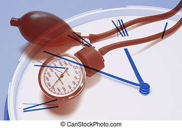 Composite of Clock and Sphygmomanometer