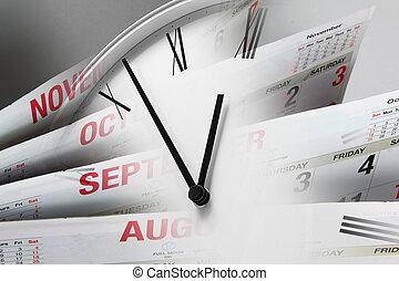 Clock Face - Composite of Clock Face and Calendars