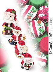 Santa Figures and Christmas Ornaments