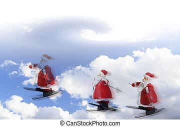 Santa Figures and Sky