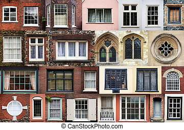 COMPOSITE OF WINDOWS - Composite of various styles of...