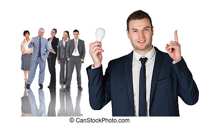 composite, prise, image, homme affaires