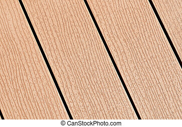Composite Wood Boards - A row of composite wood boards ...