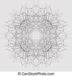 composition., διακοσμητικός , πρότυπο , lines., εικόνα , σχέδιο λεπτώς επεξειργασμένο , centripetal, διακοσμητικός , μικροβιοφορέας , διακοσμημένος , καμπύλος