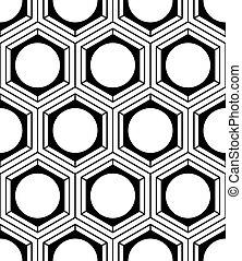 composition., グラフィック, 巻きつきなさい, パターン, 対称的, 光学, モノクローム, 幾何学的, ...