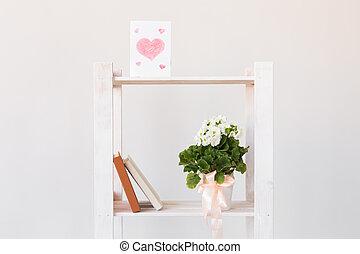 composition., 日, concept., 春, 本, 最小である, 植物, 内部, 屋内, 心, ...