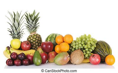 composition., 신선한 과일