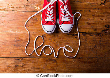 composition., amore, colpo., studio