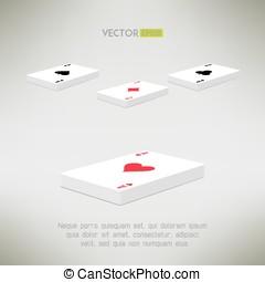 composition., as, pont, sommet, illustration, réaliste, vecteur, perspective, propre, cartes, jeu carte, design.