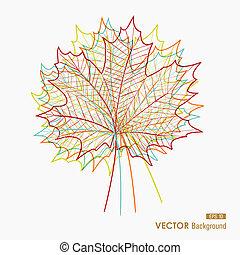 composition., eps10, arquivo, coloridos, estação, folhas, fácil, outono, vetorial, transparência, outono, editando, silhouettes., abstratos