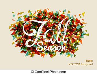 composition., eps10, arquivo, vindima, fácil, estação, outono, experiência., editing., texto, transparência, outono, geomã©´ricas, abstratos