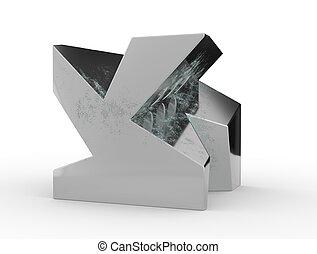 composition., fazendo, abstratos, forma., ilustração, surreal, geomã©´ricas, 3d
