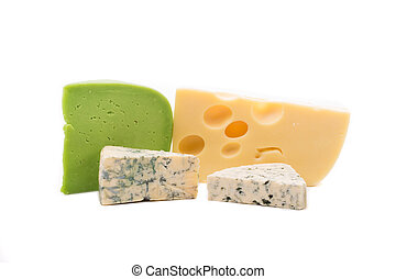 composition., fromage, divers, types