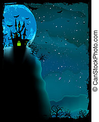 composition., gespenstisch, halloween, eps, 10