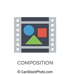 Composition Icon Vector