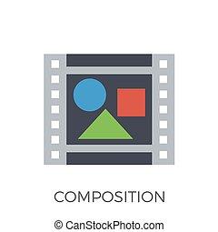 Composition Icon Vector