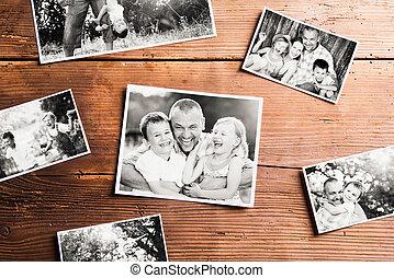 composition., images, noir blanc, prise vue., pères, studio,...