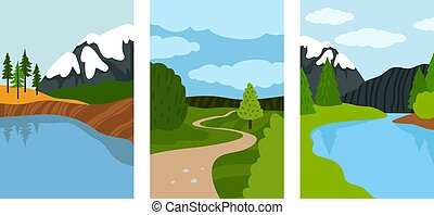 Composition landscapes cards