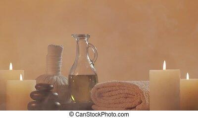 composition., masage, spa, aromathérapie, traitement, ...