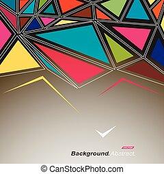 composition., mode, art, annonce, résumé, moderne, clair, police, texture., triangles, design., banner., parties, inlay, puzzle, stockage, ornament., minimalistic, fiber., mosaïque, pièce, connexion, vecteur, icon., vitrage, toile de fond