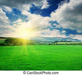 composition, montagne,  nature