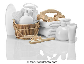 composition of bathing accessories