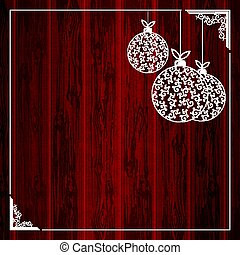 Composition of christmas balls in retro style.