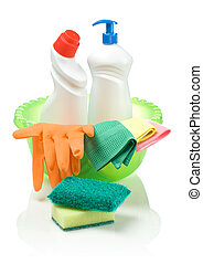 composition of cleaning accessories