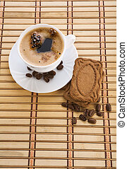 composition of coffee mug an cookie
