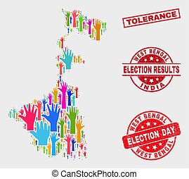 Composition of Electoral West Bengal State Map and Distress Tolerance Seal