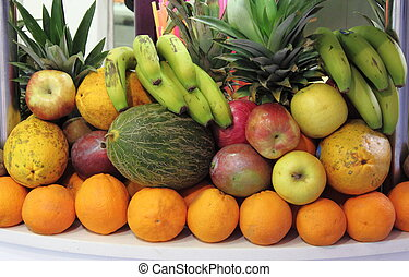 Composition of fresh fruits