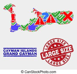 Composition of Grand Cayman Island Map Sign Mosaic and ...