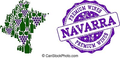 Composition of Grape Wine Map of Navarra Province and...