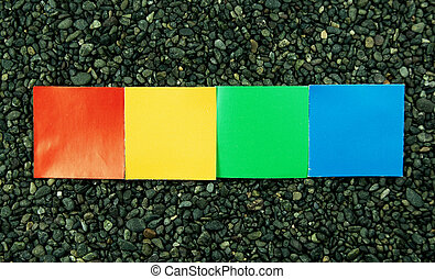composition of rainbow paper