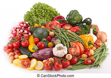 composition of raw vegetables